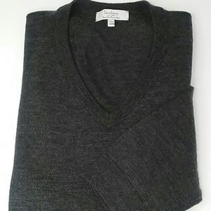 Turnburry Merino Wool charcoal gray sweater 3XB